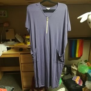 Dwell and slumber purple cocoon dress